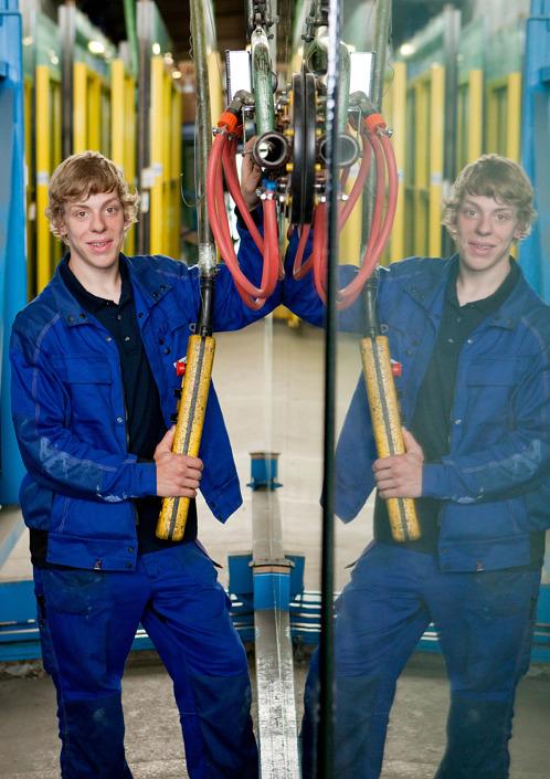 Mitarbeiter-Portrait Flachglasmechaniker